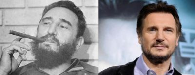 People say young Fidel Castro looked like Liam Neeson. I'd say close, but no cigar.