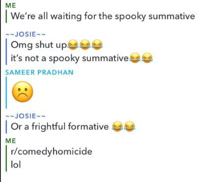 Spooky summative 😂😂😂😂