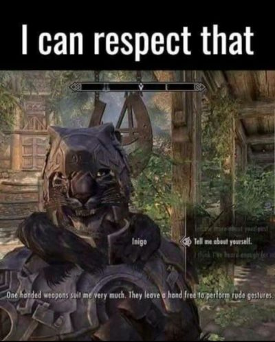 I can't respect you