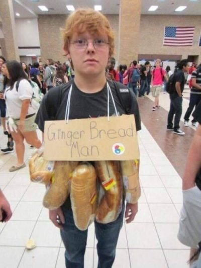 Bet he spent a lot of dough on that costume