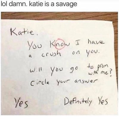 Katie is a savage! 😂
