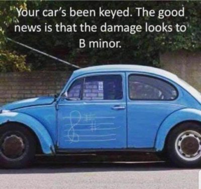You car has been keyed