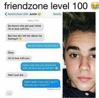 Bieber Just got friendzoned. OMG