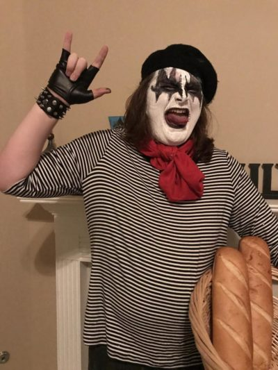 My Halloween costume, a French Kiss