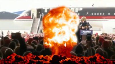 President Trump dies in a Allahu Akbar explosion!!
