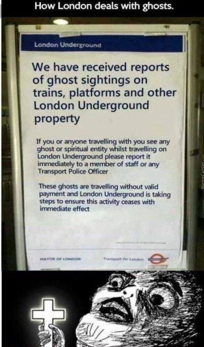 This joke London Underground ad.