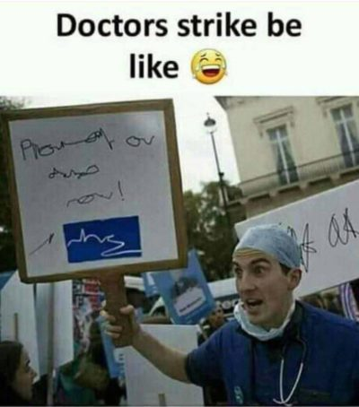 Doctors strike be like 😂👌💯