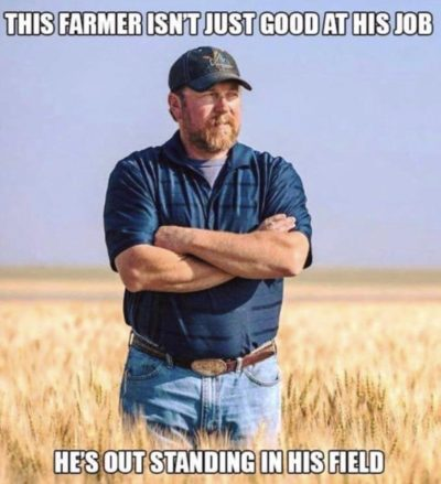 He probably barley survives from wheat to wheat.