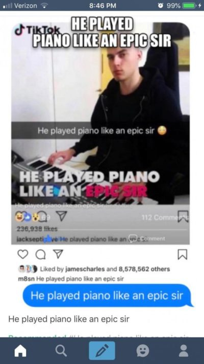 He play piano like an epic sir