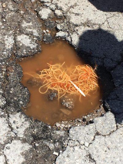 Spaghetti and street-balls.