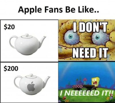 Apple Fans be like…