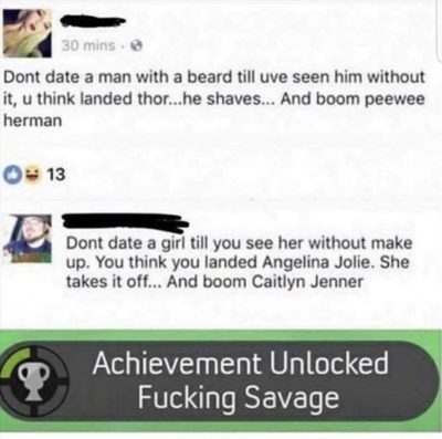 Fucking savage