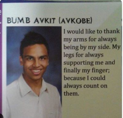 Yearbook puns.