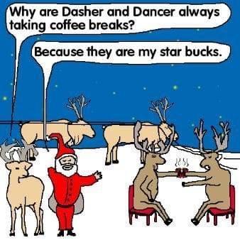 Why reindeer take coffee breaks