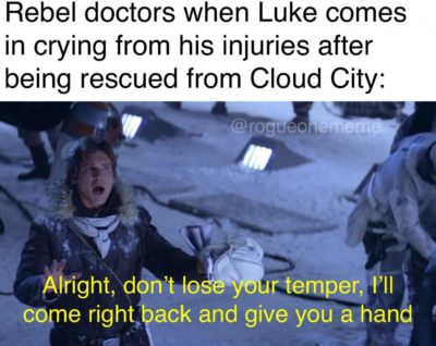 A helping han