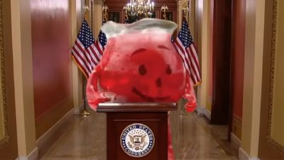 Anti-Wall Extremist The Kool-Aid Man Leads Campaign Against Trump