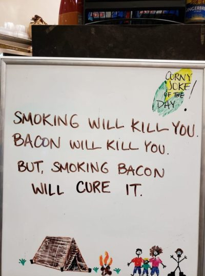 Bacon is always the cure.