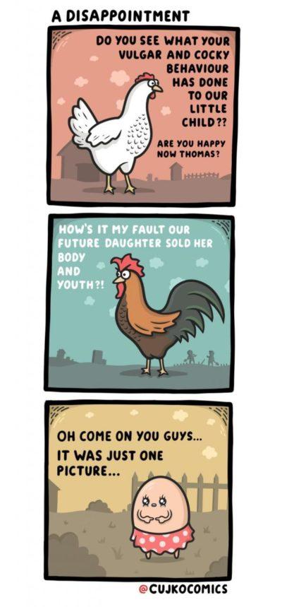 Cocky behaviour