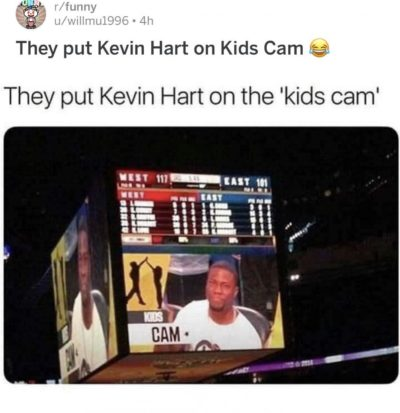 They put Kevan Hart on Kids Cam 😂