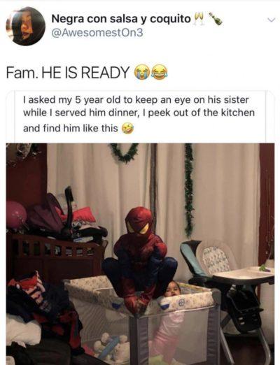 He's ready 😆😆😆😆🤣😂😂😂😂😂