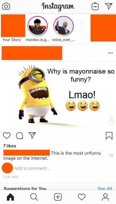 L-mayo 😂 comedy gold 👌