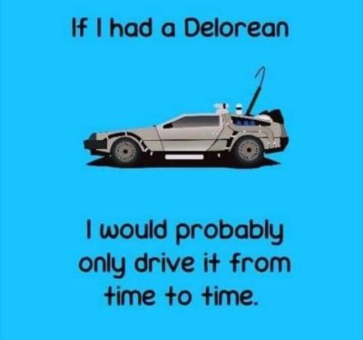 Best Pun of all for a Back to the Future nerd.