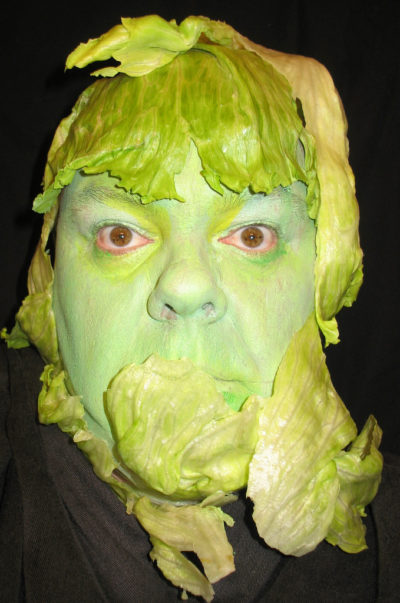 A head of lettuce.