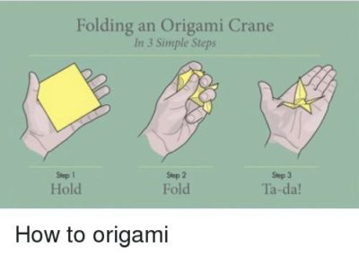 How to origami 😂