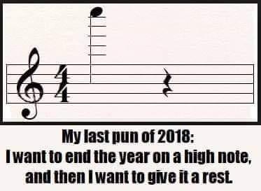 My last pun of 2018