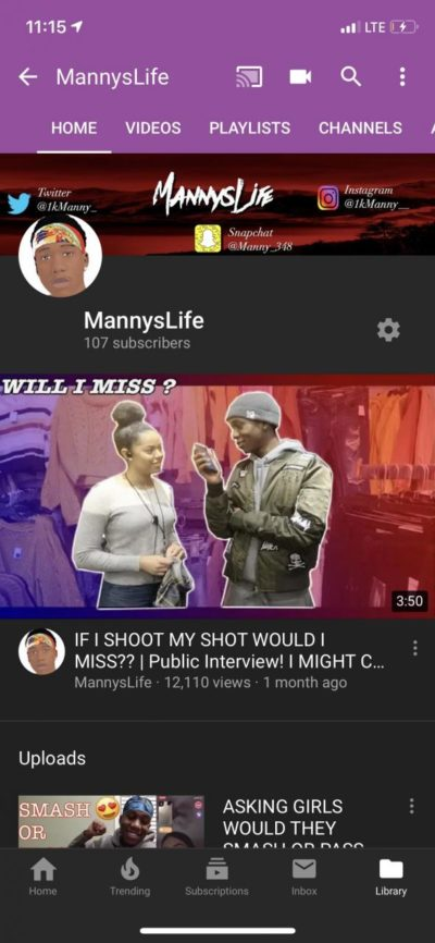 Hello to everyone on Reddit my goal is to hit 1,000 subscribers on youtube if you enjoy watching public interviews and other funny videos help me reach my goal to 1,000 subscribers thank you.