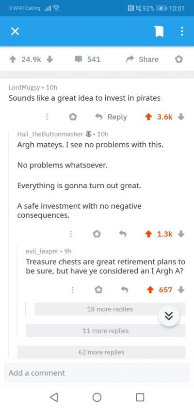 Invest in pirates!
