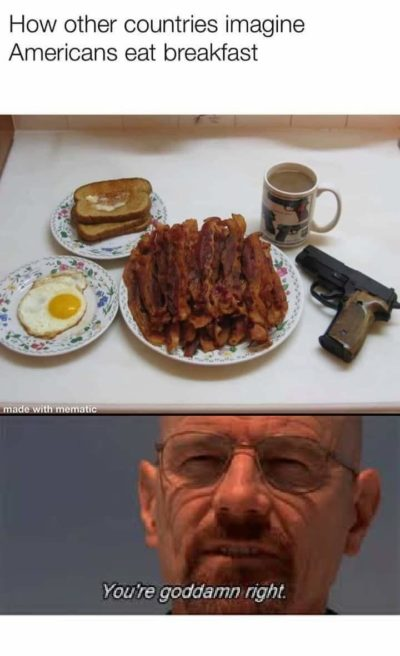 How other countries think Americans eat breakfast