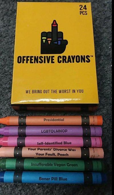 Edgy crayons!