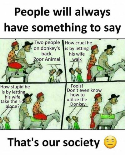 That's our society smh.