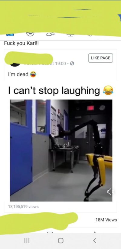 A very funny video ruined by a very shitty caption.