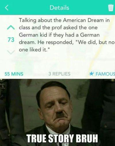 True story BRUH