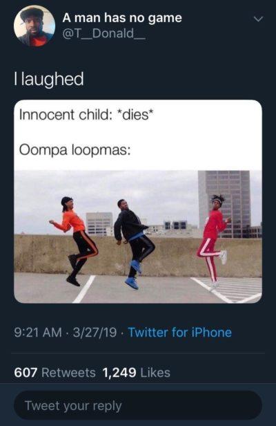 """""""I laughed"""""""