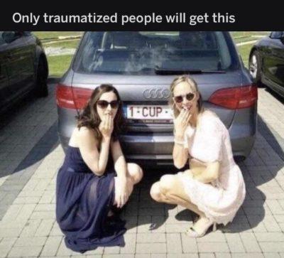 Only traumatized people will ruin a joke