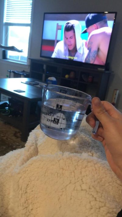 Asked my husband to bring me a cup of water…