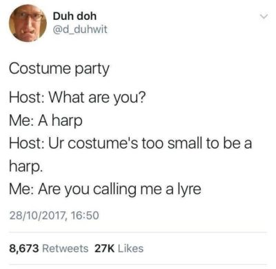 Harp costume