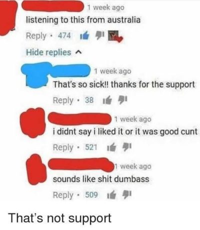 That's not support you silly goose 😂😂😂👌👌👌🔥🔥🔥
