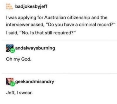 Jeff i swear