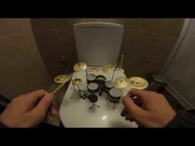 🍺Miniature Drums Cover in WC🍺Nirvana-Smells Like Teen Spirit