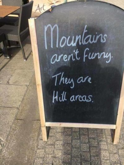 Hill areas!