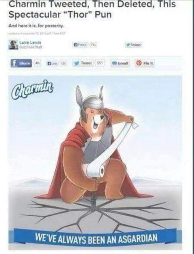 Charmin of Asgard!