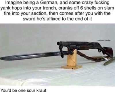One sour kraut for sure