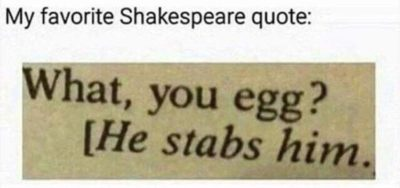 mY fAVOriTe shAKEespeaRE quOTE