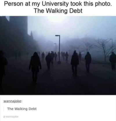 The walking debt