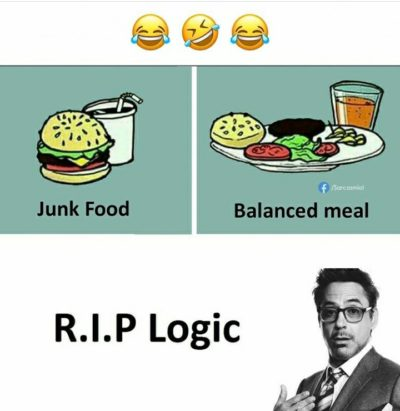 Robert downey Jr be like : R.I.P Logic!!1!