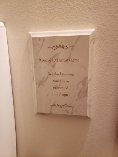 In my dentist office bathroom